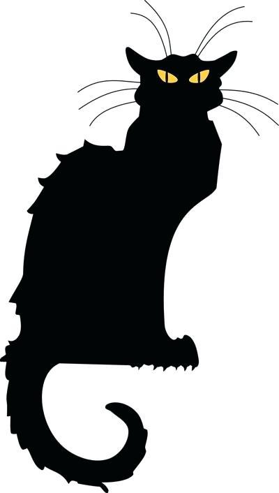 400x706 Black Halloween Cat Halloween Black Cat Silhouette Pattern Ibbc.club