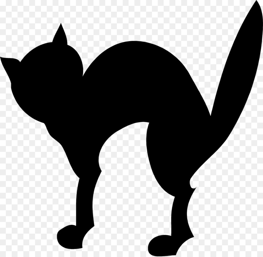 900x880 Black Cat Halloween Silhouette Clip Art