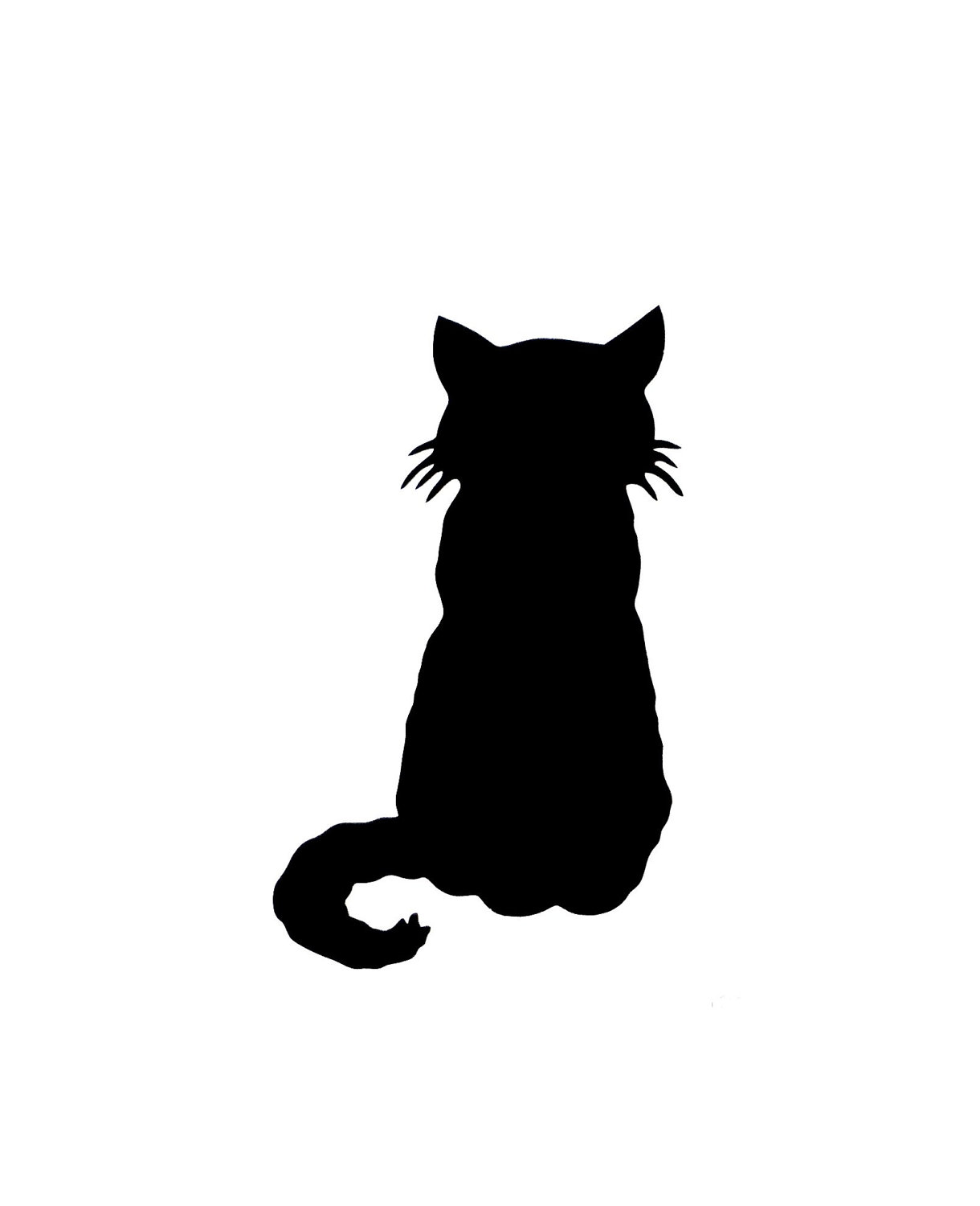 1220x1500 Free Silhouette Of Cat, Hanslodge Clip Art Collection