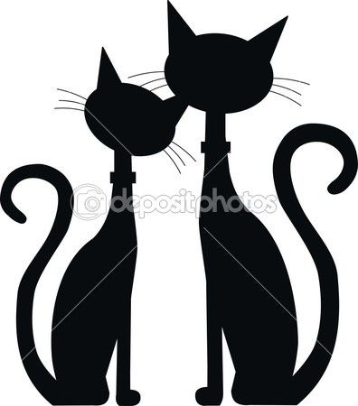 396x450 162 Best Silhouettes Cat Silhouettes Images On Black