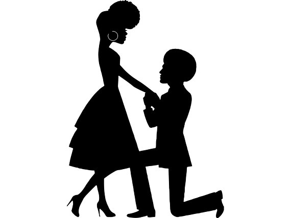 570x428 Black Couple Proposal Love Queen King Afro Beautiful African