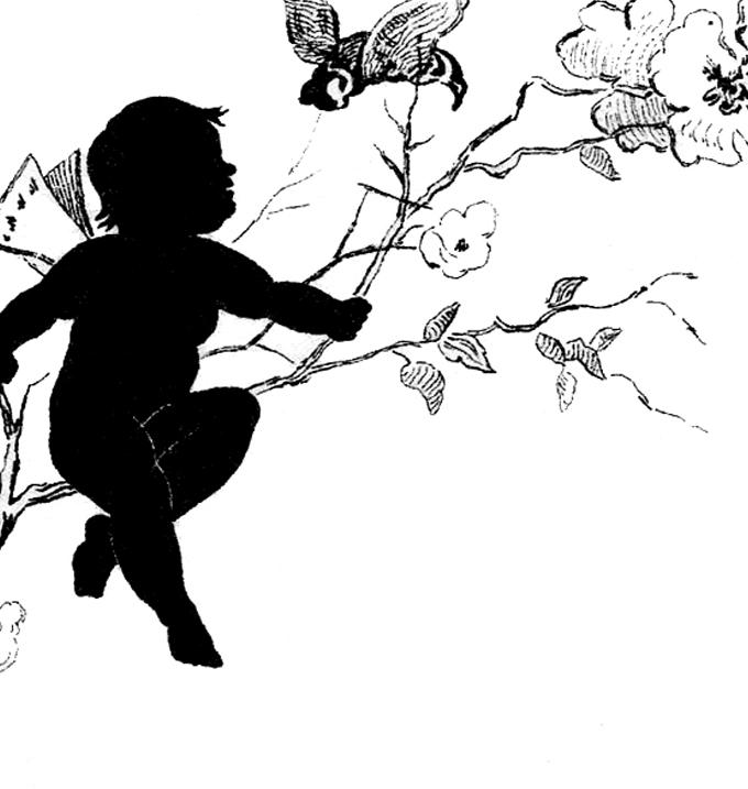 680x717 Vintage Fairy Child Silhouette Image!