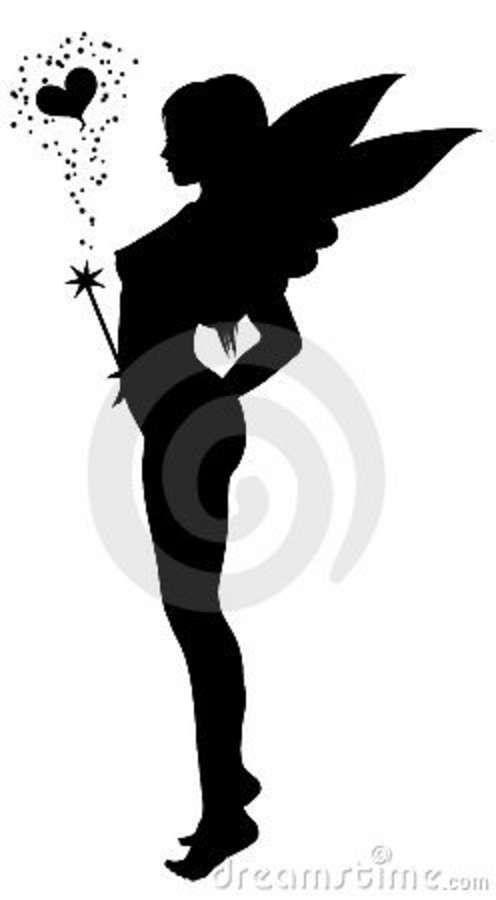 496x900 Love Fairy Silhouette 21037927.jpg Silhouette Portrait
