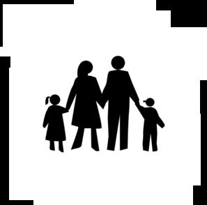 297x294 Family In Black Clip Art