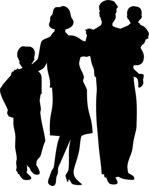 520x650 Family Silhouette Clip Art