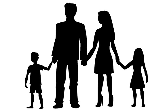580x386 Family Silhouette Svg Cut File By Creative Fabrica Crafts