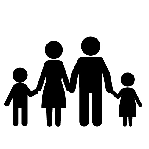 black family silhouette at getdrawings com free for personal use rh getdrawings com free clipart family and friends free clipart family tree