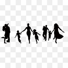 260x260 Silhouette Family Png Images Vectors And Psd Files Free