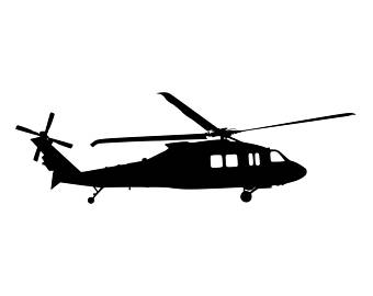 340x270 Helicopter Decal Etsy