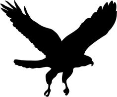 236x197 Flying Hawk Silhouette Eagle Silhouette Stencils