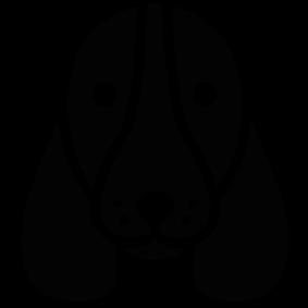 283x283 Basset Hound Dog Head Silhouette Silhouette Of Basset Hound Dog Head
