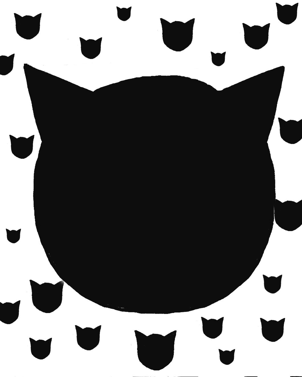 1060x1320 Cat Head Silhouette Clip Art