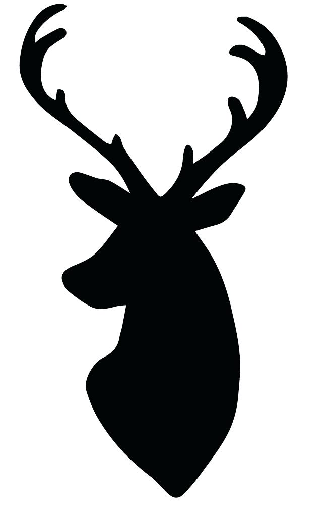 651x1006 Deer Head Template Deer Head Silhouette Logo Design Template Deer