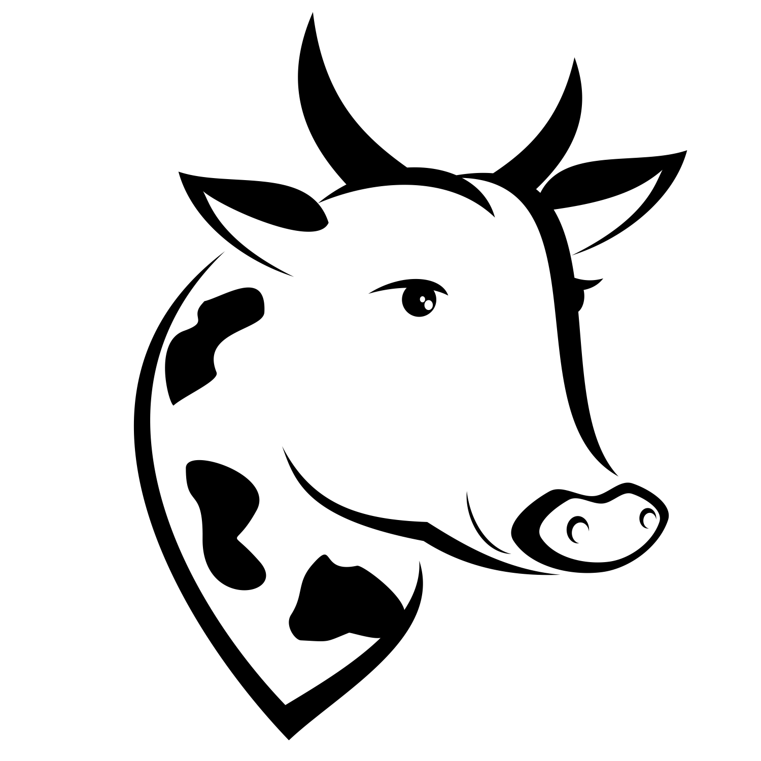 1500x1500 Free Cow Head Clipart Vector For Use S