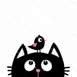 300x300 Stock Illustration Pet Shop Logo Cartoon Cat Sign Cat Silhouette