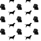 173x173 Labrador Head And Silhouette Giftwrap