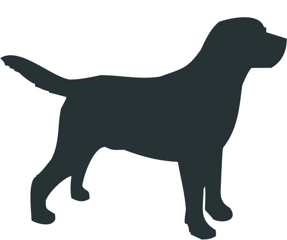 1000x836 Labrador Retriever Dog Decal Sticker Car Van Vinyl Silhouette