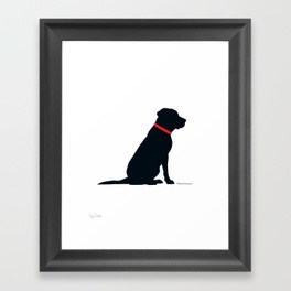264x264 Black Lab Framed Art Prints Society6