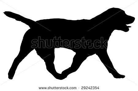 450x297 Walking Labrador Silhouette Black Lab Silhouette Clip Art I