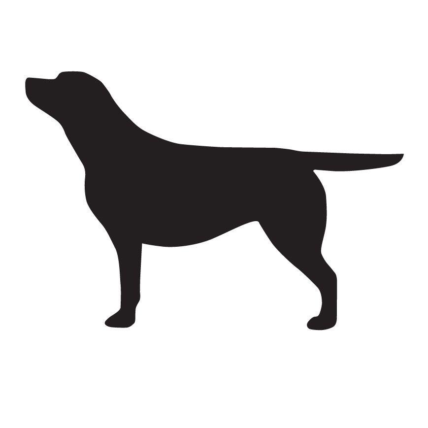 869x869 Labrador Outline