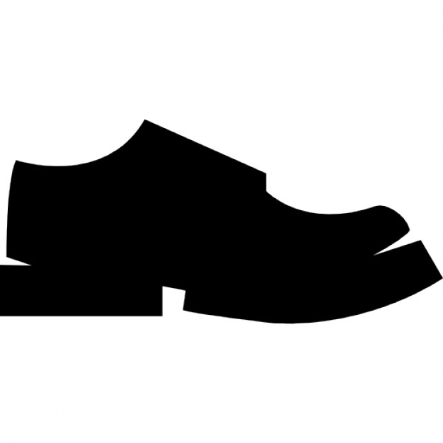 626x626 Black Male Shoe Side View Silhouette Icons Free Download