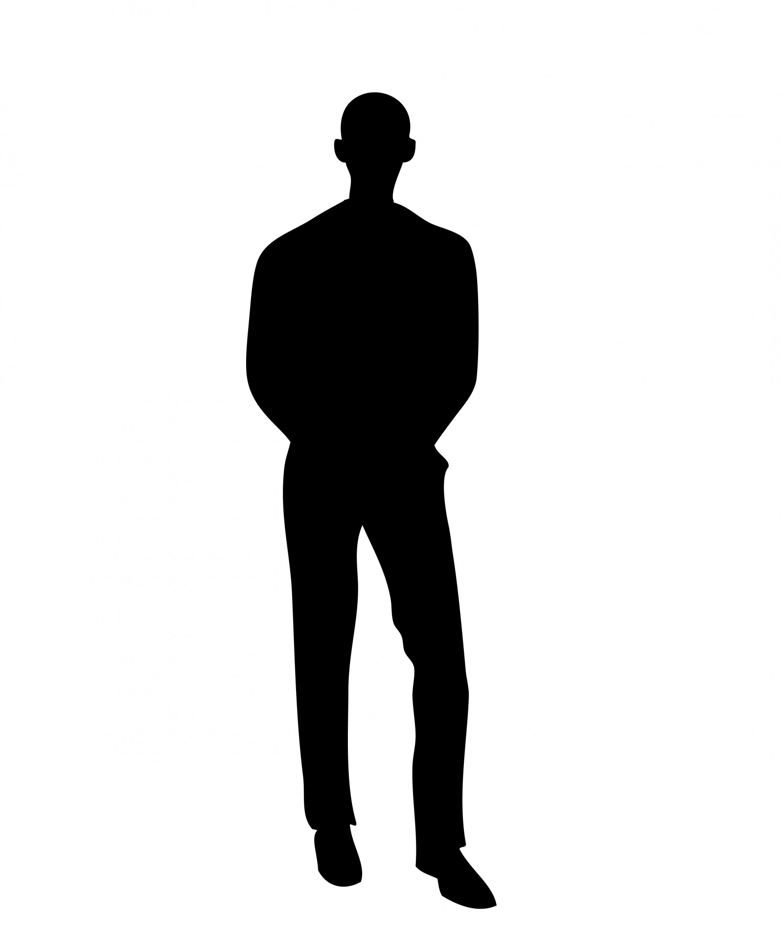 1596x1920 Man In Black Silhouette Free Stock Photo