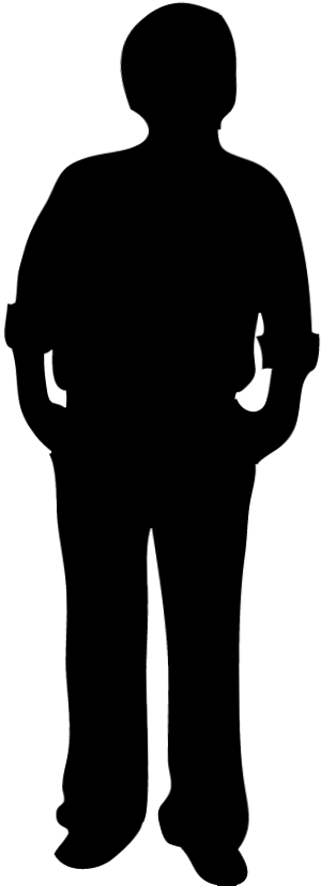 321x886 Male Silhouette Clipart
