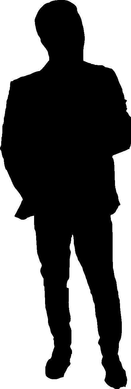 442x1312 20 Man Silhouette (Png Transparent)
