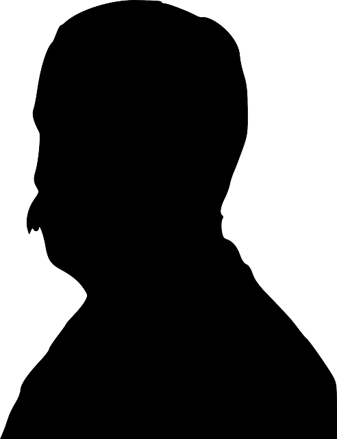 492x640 Old, Black, Man, Profile, Silhouette, Male, Portrait
