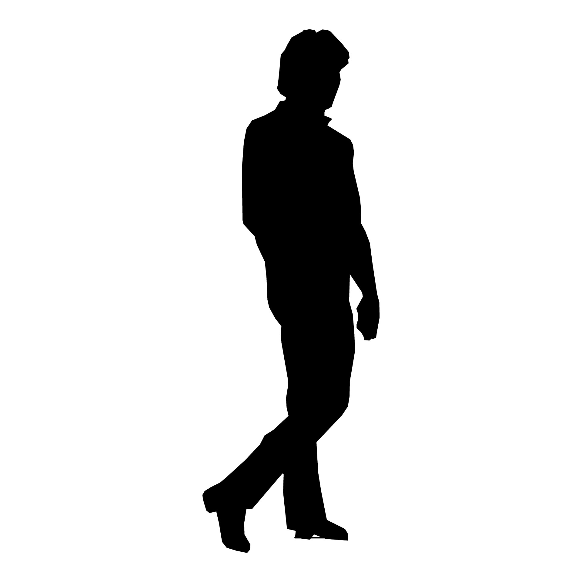 1920x1920 Silhouette Man Walking 4 D Studio Silhouettes