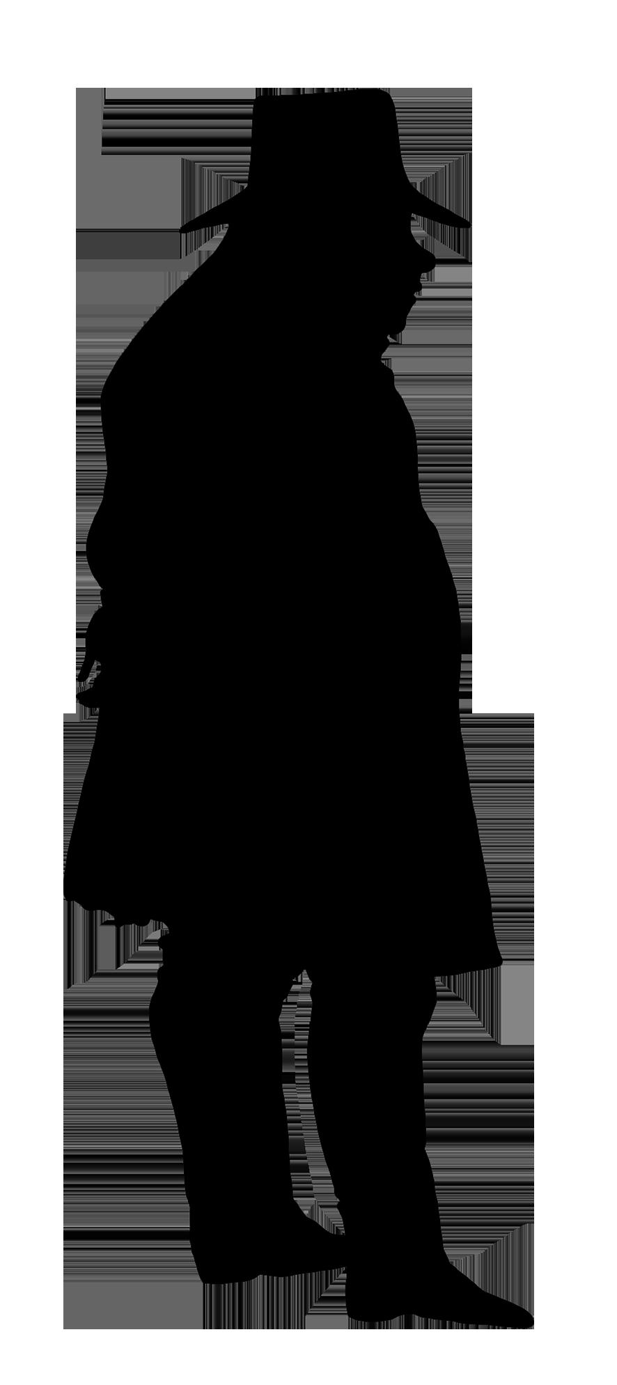 886x1988 Victorian Silhouette Clipart