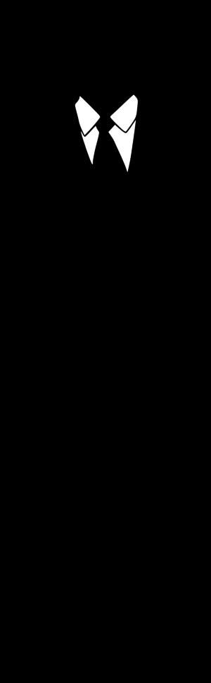 300x969 Black Man Standing Clipart
