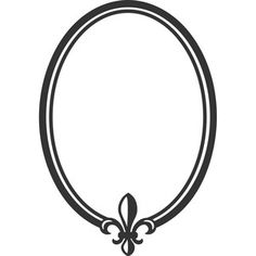 Black Oval Frame For Silhouette