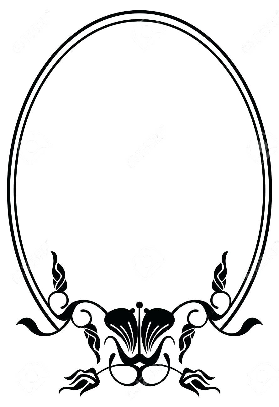Black Oval Frame For Silhouette at GetDrawings.com | Free for ...