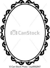 194x260 8x10 Black Oval Wood Frame Silhouettes, Woods And Oval Frame