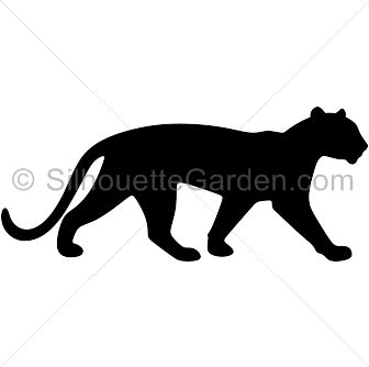 336x334 Panther Vector Silhouettes Silhouettes Silhouette