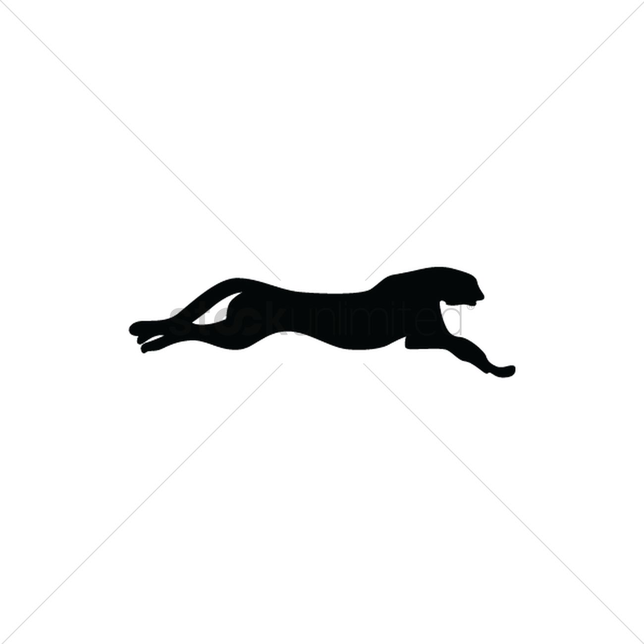 1300x1300 Silhouette Of Panther Vector Image