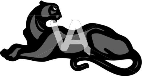 480x258 Black Panther Silhouette Vector Graphics Of Panther Vector Black