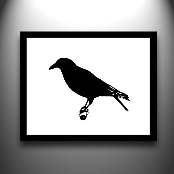 570x570 Papercut Crow. Lovely.