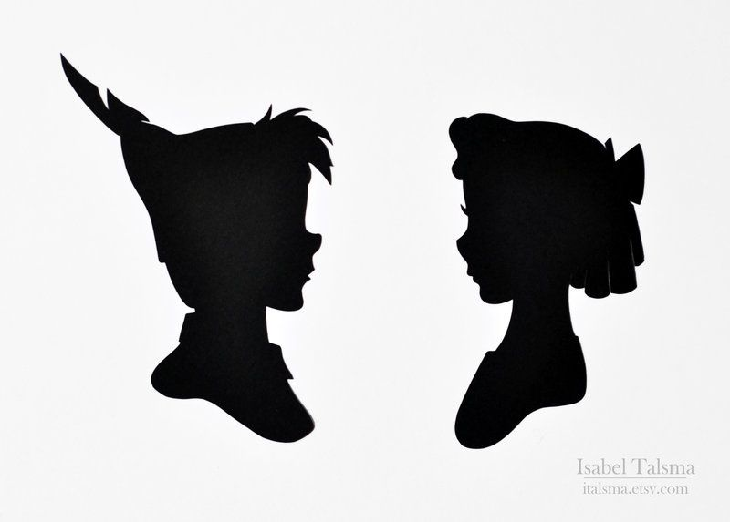 800x573 Peter Pan And Wendy Darling Handmade Paper Silhouettes