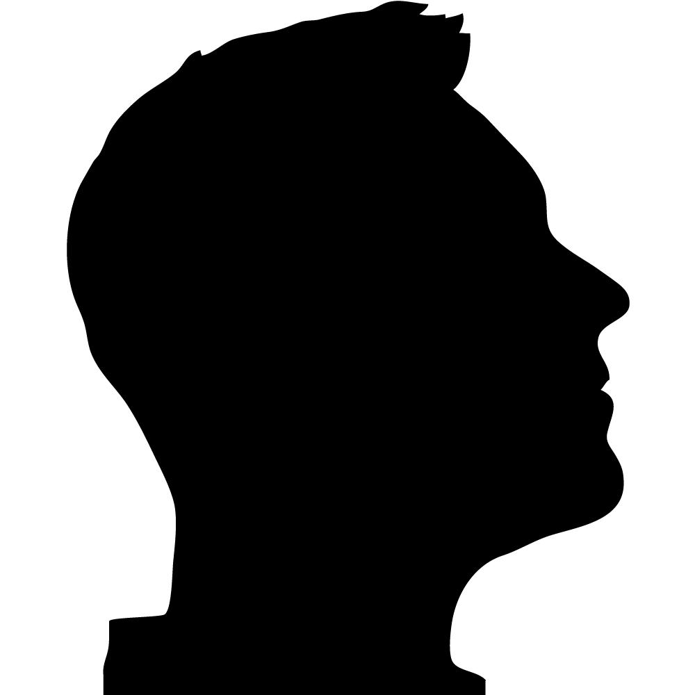 1000x1000 11 silhouette profile. Clipart Panda