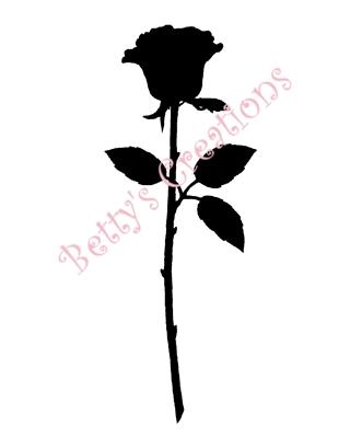 320x400 Rose Silhouette