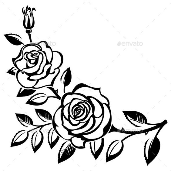 Black Rose Silhouette at GetDrawings.com | Free for personal use ...