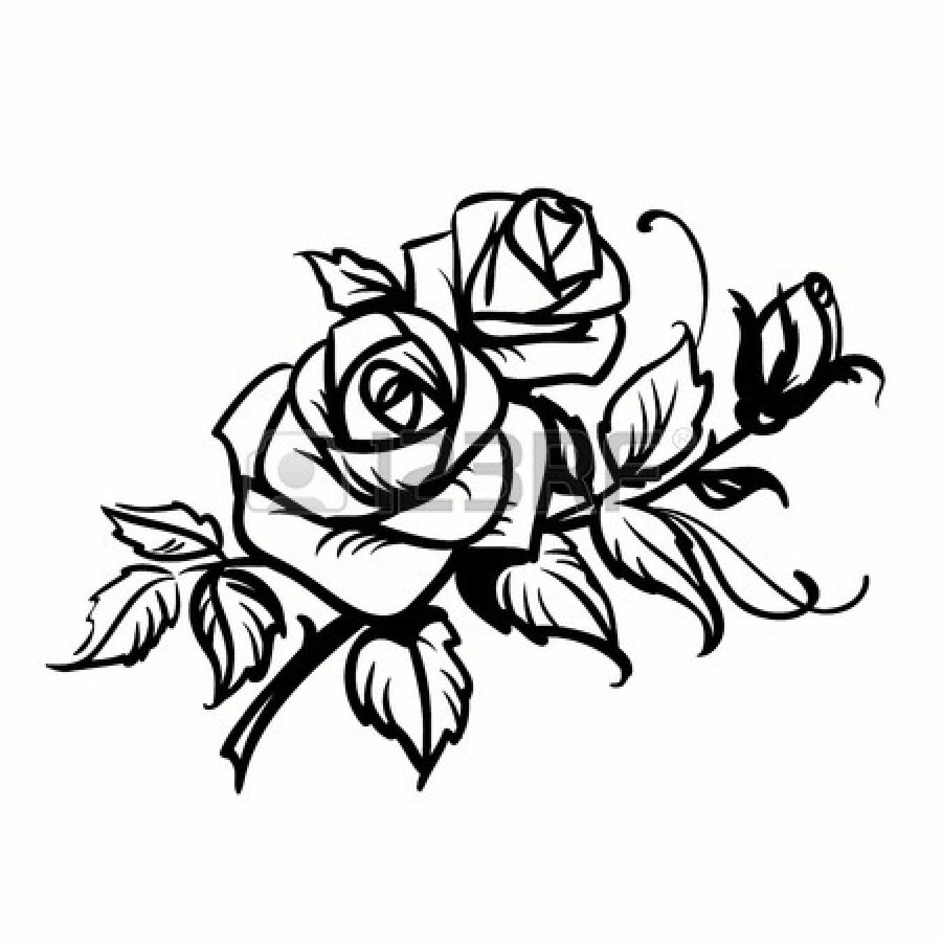 1350x1350 Black Rose Flower Drawing Black Rose Silhouette Clip Art