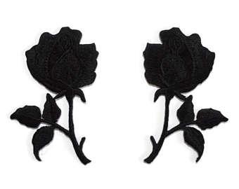 340x270 Black Rose Patch Etsy