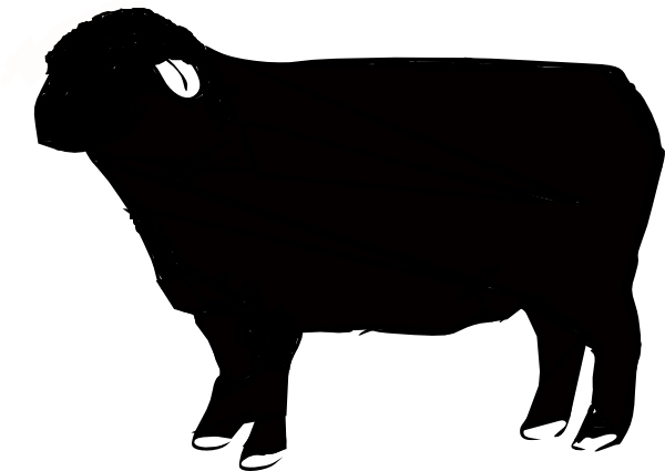 black sheep silhouette at getdrawings com free for personal use rh getdrawings com black sheep clipart black and white baa baa black sheep clipart