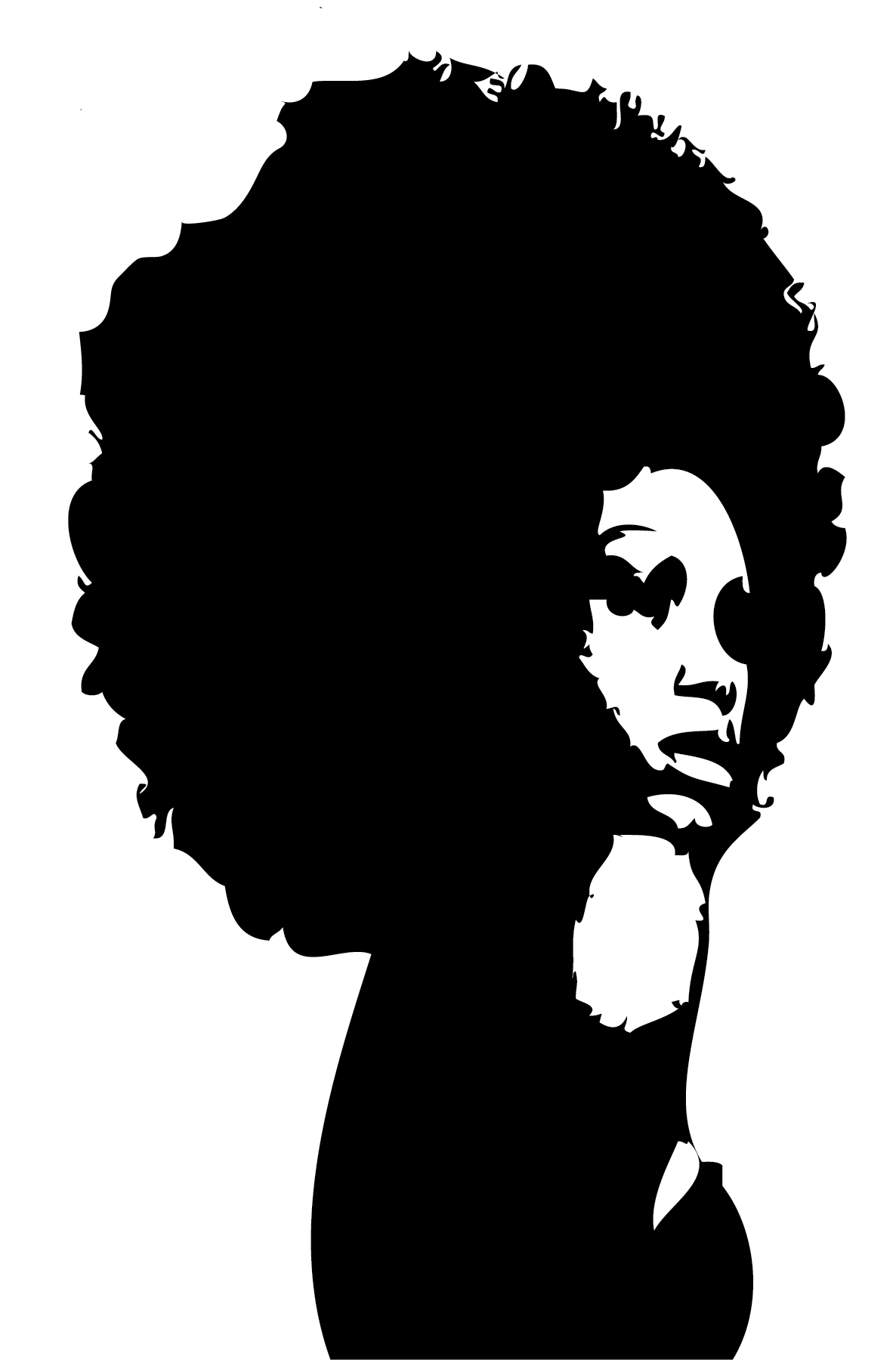1186x1804 Black Woman Silhouette Clip Art