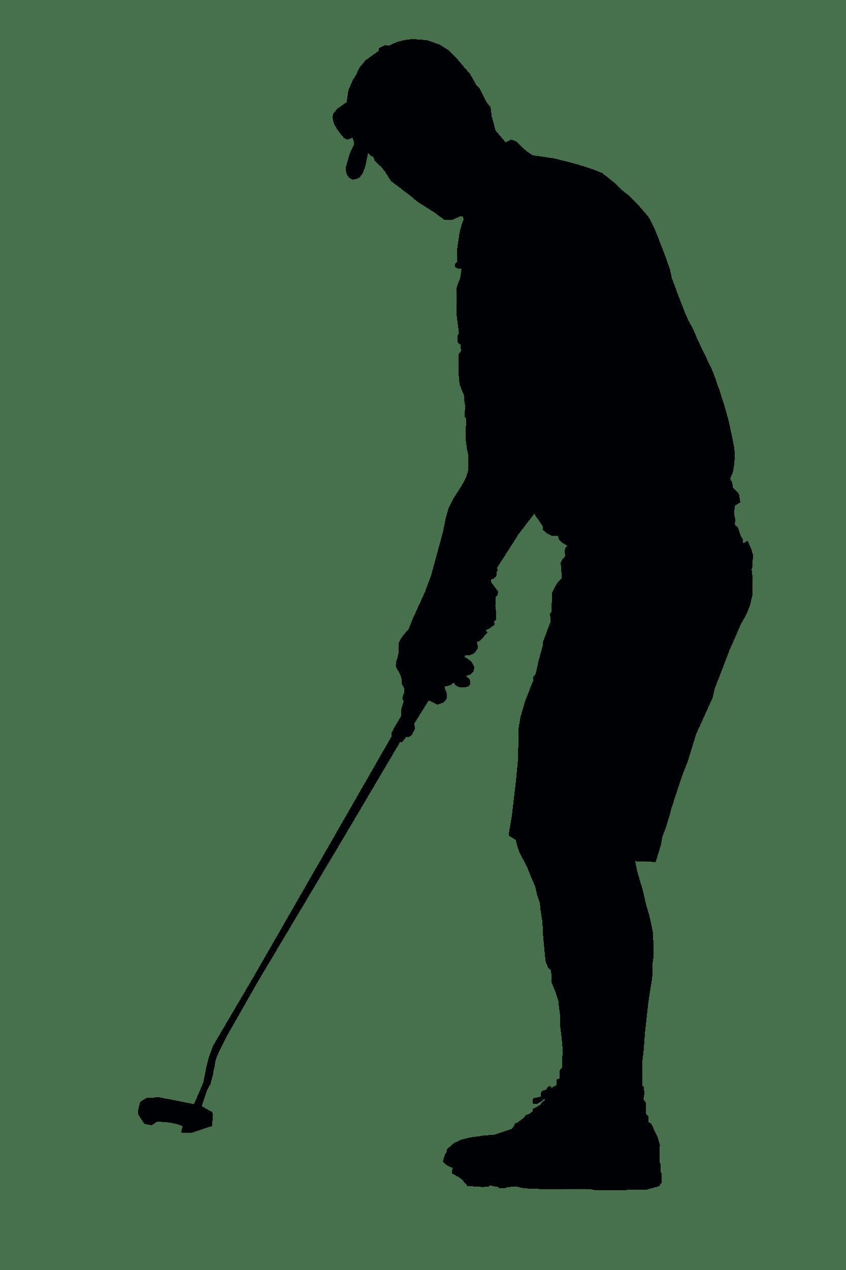 1666x2500 Golfer Black Silhouette Transparent Png