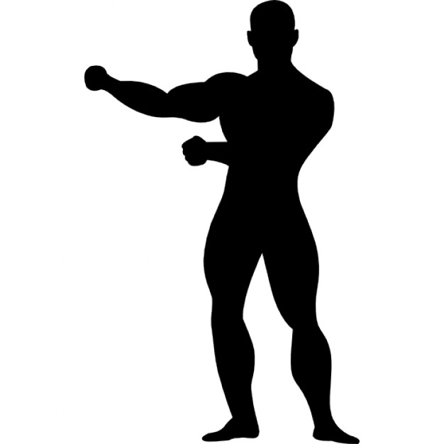 626x626 Gymnast Standing Black Silhouette Icons Free Download
