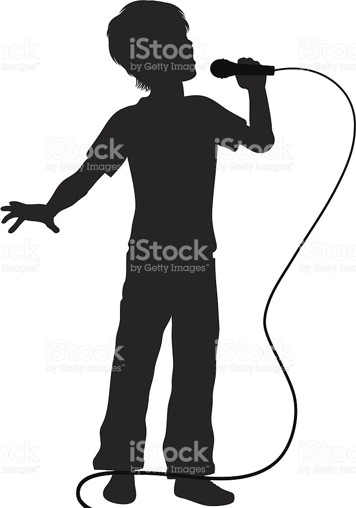 718x1024 Singer Microphone Clipart Black And White Amp Singer